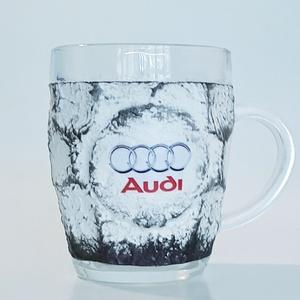 Audi sörös korsó, nagy méretű füles bögre rajongói ajándék férfiaknak, férjeknek, barátoknak, Otthon & lakás, Konyhafelszerelés, Férfiaknak, Sör, bor, pálinka, Bögre, csésze, Decoupage, transzfer és szalvétatechnika, Audi sörös korsó, nagy méretű füles bögre rajongói ajándék férfiaknak, férjeknek, barátoknak névnaor..., Meska