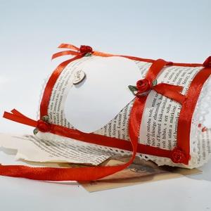 Vintage papír ajándékkísérő, meghívó, esküvőre, eljegyzésre, évfordulóra, nászajándékba, karácsonyra, bor csomagoláshoz (Biborvarazs) - Meska.hu