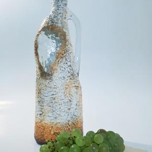 Boros üveg, szőlős üveg különleges kivitelben az ősz szülötteinek szülinapra, névnapra, karácsonyra., Otthon & Lakás, Díszüveg, Dekoráció, Festett tárgyak, Meska