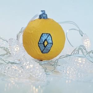 Renault kézzel festett karácsonyi gömb, karácsonyfa dísz autó rajongói ajándék, karácsonyi ajándék., Karácsonyfadísz, Karácsony & Mikulás, Otthon & Lakás, Festett tárgyak, Ranault kézzel festett karácsonyi gömb, karácsonyfa dísz autó rajongói ajándék, karácsonyi ajándék, ..., Meska