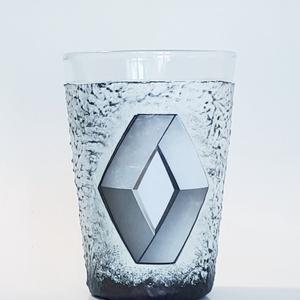Renault vizes pohár, üdiítős pohár autórajongói ajándék névnapra, szülinapra, mikulásra, karácsonyra. , Otthon & lakás, Konyhafelszerelés, Férfiaknak, Legénylakás, Sör, bor, pálinka, Decoupage, transzfer és szalvétatechnika, Renault vizes pohár, üdiítős pohár autórajongói ajándék névnapra, szülinapra, mikulásra, karácsonyra..., Meska