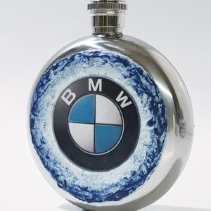 Bmw rajongói ajándék - rozsamentes acél flaska, betekintő ablakos lapos üveg (1 dl) , Üveg & Kancsó, Konyhafelszerelés, Otthon & Lakás, Decoupage, transzfer és szalvétatechnika, Bmw rajongói ajándék - rozsamentes acél flaska, betekintő ablakos lapos üveg (1 dl) \n\nBmw rajongó cs..., Meska