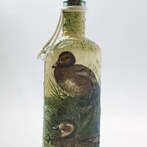 Kacsás dísz-és használati italos üveg, pálinkás üveg vadászat, vadkacsa  kedvelőknek. , Otthon & Lakás, Üveg & Kancsó, Konyhafelszerelés, Kacsás dísz-és használati italos üveg, pálinkás üveg vadászat, vadkacsa  kedvelőknek. (750 ml)  A kü..., Meska