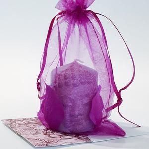 Buddha lila szirmos gyertya spirituális ajándék névnapra, szülinapra, nőnapra, anyák napjára, Lakberendezés, Otthon & lakás, Gyertya, mécses, gyertyatartó, Egyéb, Vallási tárgyak, Decoupage, transzfer és szalvétatechnika, Buddha lila szirmos gyertya spirituális ajándék névnapra, szülinapra, nőnapra, anyák napjára, karács..., Meska
