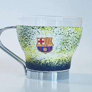 Fc Barcelona kávéspohár szett Barca foci rajongói ajándék férfiaknak, férjeknek, barátoknak, kollegáknak, Konyhafelszerelés, Otthon & lakás, Férfiaknak, Focirajongóknak, Bögre, csésze, Decoupage, transzfer és szalvétatechnika, Fc Barcelona kávéspohár szett Barca foci rajongói ajándék férfiaknak, férjeknek, barátoknak, kollegá..., Meska