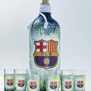 Fc Barcelona futball rajongói dísz- és használati italos szett - ajándék férfiaknak, férjeknek, barátoknak. - Meska.hu