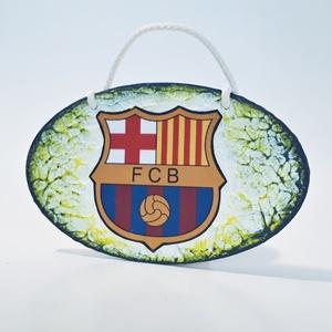 FC Barcelona fa sötétben fluoreszkáló ajtódísz, kopogtató, falidísz ajándék férfiaknak, férjeknek, barátoknak!, Férfiaknak, Legénylakás, Otthon & lakás, Lakberendezés, Ajtódísz, kopogtató, Focirajongóknak, Decoupage, transzfer és szalvétatechnika, Fc Barcelona fa sötétben fluoreszkáló ajtódísz, kopogtató, falidísz ajándék férfiaknak, férjeknek, b..., Meska