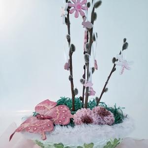Tojásfa, húsvéti asztalidísz, rózsaszín szörmés lóherés tavaszi dekoráció, húsvéti ajándék. , Otthon & Lakás, Dekoráció, Asztaldísz, Tojásfa, húsvéti asztalidísz, rózsaszín szörmés lóherés tavaszi dekoráció, húsvéti ajándék.   A tojá..., Meska