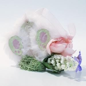 Nyuszi talpas, ajtódísz, húsvéti dekoráció, pink szörmés húsvéti dísz, húsvéti ajándék. , Otthon & Lakás, Dekoráció, Ajtódísz & Kopogtató, Nyuszi talpas, ajtódísz, húsvéti dekoráció, pink szörmés húsvéti dísz, húsvéti ajándék.   Mérete: kb..., Meska