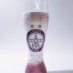UTE rajongóknak sörös pohár (500 ml), Férfiaknak, Otthon & lakás, Konyhafelszerelés, Legénylakás, Sör, bor, pálinka, Decoupage, transzfer és szalvétatechnika, UTE rajongóknak sörös pohár (500 ml)\n\nUTE kedvelőknek kötelező kellék!\n\nA külső bevonatnak köszönhet..., Meska