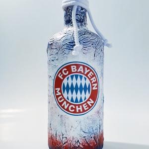 Bayern München foci rajongói dísz- és használati italos üveg, hengeres üveg, pálinkás üveg.    750 ml , Üveg & Kancsó, Konyhafelszerelés, Otthon & Lakás, Decoupage, transzfer és szalvétatechnika, Bayern München foci rajongói dísz- és használati italos üveg, hengeres üveg, pálinkás üveg. (750 ml)..., Meska