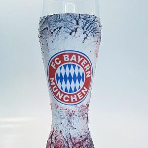 Bayern München foci rajongói sörös pohár 500 ml  - Meska.hu