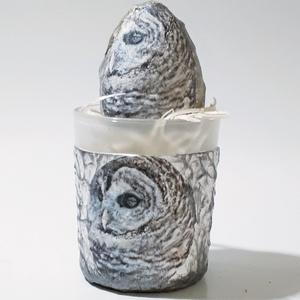 Bagoly húsvéti tojás bagoly mécsesben, húsvéti asztali dísz, húsvéti ajándék bagoly imádóknak. a., Otthon & Lakás, Dekoráció, Dísztárgy, Bagoly húsvéti tojás bagoly mécsesben, húsvéti asztali dísz, húsvéti ajándék bagoly imádóknak.  Tojá..., Meska
