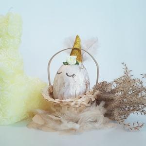 Unikornis sötétben világító jeges hatású, márványos húsvéti tojás, húsvéti ajándék unikornis fanoknak, 4 féle (Biborvarazs) - Meska.hu