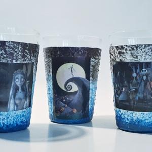 Lidércnyomás vizes pohár, üdítős pohárszett 6 db-os szett. (Biborvarazs) - Meska.hu