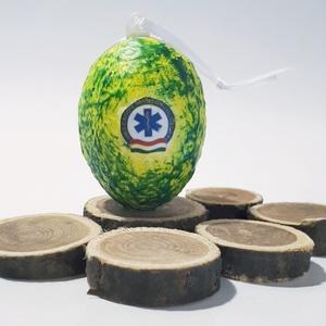 OMSZ meglepetés tojás mentősöknek, húsvéti tojás nem csak húsvétra, névnapra, szülinapra, gyermeknapra., Asztaldísz, Dekoráció, Otthon & Lakás, Decoupage, transzfer és szalvétatechnika, OMSZ meglepetés tojás mentősöknek, locsoló ajándék, húsvéti tojás ajándék nem csak húsvétra, névnapr..., Meska