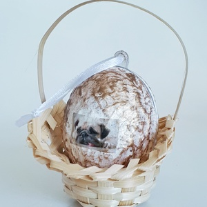 Mops meglepetés tojás kutyás húsvéti tojás nem csak húsvétra, névnapra, szülinapra, gyermeknapra., Asztaldísz, Dekoráció, Otthon & Lakás, Decoupage, transzfer és szalvétatechnika, Mops meglepetés tojás kutyás locsoló ajándék, húsvéti tojás, ajándék nem csak húsvétra, névnapra, sz..., Meska