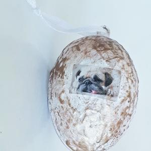 Mops meglepetés tojás kutyás húsvéti tojás nem csak húsvétra, névnapra, szülinapra, gyermeknapra. (Biborvarazs) - Meska.hu
