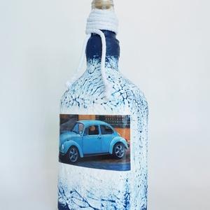 Volkswagen bogár rajongóknak pálinkás dísz-és használati üveg , Férfiaknak, Sör, bor, pálinka, Otthon & lakás, Konyhafelszerelés, Decoupage, transzfer és szalvétatechnika, Volkswagen bogár rajongóknak dísz-és használati pálinkás üveg (750 ml -1000 ml)\n\nBeetle kedvelőknek ..., Meska