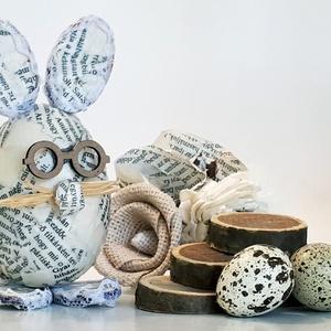 Vintage nyúl, múltidéző húsvéti asztalidísz tavaszi asztali dekoráció, húsvéti ajándék. , Otthon & Lakás, Dekoráció, Dísztárgy, Vintage nyúl, múltidéző húsvéti asztalidísz tavaszi asztali dekoráció, húsvéti ajándék.   Magassága:..., Meska