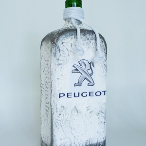 Peugeot rajongói ajándék - italos dísz- és használati üveg szülinapra, névnapra, karácsonyra., Otthon & Lakás, Díszüveg, Dekoráció, Peugeot ajongói ajándék - italos dísz- és használati üveg szülinapra, névnapra, karácsonyra.  Űrtart..., Meska