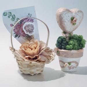 Rosegold rózsa szív végtelen szerelem kerámia kaspó díszdobozban ajándék névnapra, szülinapra, mikulásra, karácsonyra., Dekoráció, Otthon & lakás, Lakberendezés, Kaspó, virágtartó, váza, korsó, cserép, Dísz, Ünnepi dekoráció, Anyák napja, Festett tárgyak, Rosegold rózsa szív végtelen szerelem kerámia kaspó díszdobozban ajándék névnapra, szülinapra, mikul..., Meska