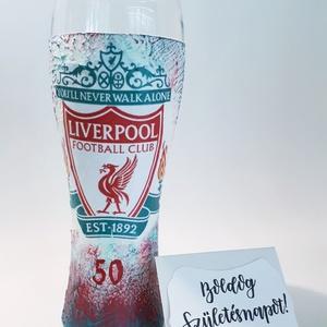 Liverpool foci rajongói sörös pohár 500 ml , Otthon & Lakás, Konyhafelszerelés, Pohár, Liverpool foci rajongói sörös pohár 500 ml   Sör kedvelőknek kötelező kellék! Kiváló ajándék mikulás..., Meska