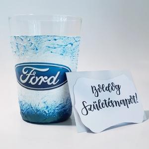 Ford üdítőspohár, vizes pohár autó rajongói ajándék szülinapra, névnapra, karácsonyra, húsvétra. , Otthon & Lakás, Pohár, Konyhafelszerelés, Ford vizes pohár, üdítős pohár autó rajongói ajándék szülinapra, névnapra, karácsonyra, húsvétra  (2..., Meska