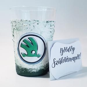 SKODA pohár, SKODA rajongói ajándék gravírozható üdítős pohár vizes pohár szülinapra, névnapra, karácsonyra., Otthon & Lakás, Pohár, Konyhafelszerelés, SKODA pohár, SKODA rajongói ajándék SKODA gravírozható üdítős pohár, vizes pohár szülinapra, névnapr..., Meska