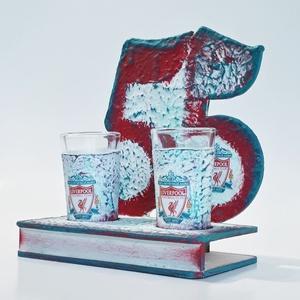 Liverpool fa tálcás ital kínáló röviditalos poharakkal. Foci rajongói ajándék férfiaknak, férjeknek 18-100 , Otthon & Lakás, Pohár, Konyhafelszerelés, Liverpool fa tálcás ital kínáló röviditalos poharakkal.  Foci rajongói ajándék férfiaknak, férjeknek..., Meska