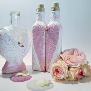 Két fél egy egész pink szives homokceremónia kellékek rózsaszín szív üvegek homokszóráshoz esküvői ajándék, Esküvő, Nászajándék, Esküvői dekoráció, Otthon & lakás, Dekoráció, Ünnepi dekoráció, Anyák napja, Decoupage, transzfer és szalvétatechnika, Két fél egy egész pink szives homokceremónia kellékek rózsaszín szív üvegek homokszóráshoz esküvői a..., Meska