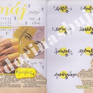 Bullet journal heti nyomtatható tervező, sárga méhecske témájú, 2020 május, 21. hét, 3 az 1-ben naptár, tervező, napló., Otthon & lakás, Naptár, képeslap, album, Jegyzetfüzet, napló, Naptár, Dekoráció, Ünnepi dekoráció, Gyereknap, Fotó, grafika, rajz, illusztráció, Bullet journal heti nyomtatható tervező, sárga méhecske témájú, 2020 május, 21. hét, 3 az 1-ben napt..., Meska