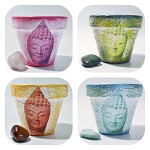 Buddha kaspó, beltéri virágtartó négy féle színben, sprituális ajándék bármilyen alkalomra: szülinapra, névnapra, Cserép & Kaspó, Ház & Kert, Otthon & Lakás, Decoupage, transzfer és szalvétatechnika, Buddha kaspó, beltéri virágtartó négy féle színben, sprituális ajándék bármilyen alkalomra: szülinap..., Meska