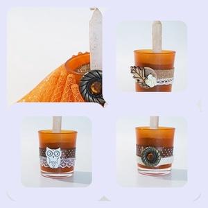 Narancs teamécses, üveg gyertyatartó mécses a narancs élénk, őszi szín kedvelőinek, 3 féle. , Otthon & lakás, Lakberendezés, Gyertya, mécses, gyertyatartó, Dekoráció, Dísz, Ünnepi dekoráció, Anyák napja, Mindenmás, Narancs teamécses, üveg gyertyatartó mécses a narancs őszi szín kedvelőinek, 3 féle. Kimondottan az ..., Meska