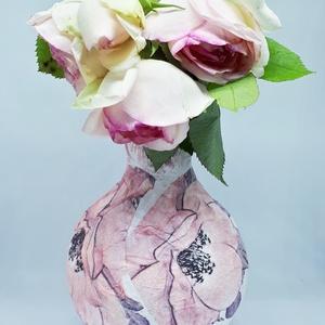 Pink tubarózsás mini gömb váza szülinapra, névnapra, lakásavatóra, búcsúztatóra. , Otthon & Lakás, Váza, Dekoráció, Pink tubarózsás mini gömb váza szülinapra, névnapra, lakásavatóra, búcsúztatóra. A váza magassága: k..., Meska