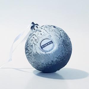 Volvo karácsonyfa gömb, karácsonyfa dísz autó rajongói ajándék, karácsonyi ajándék, mikulás és adventi meglepi, Karácsonyfadísz, Karácsony & Mikulás, Otthon & Lakás, Decoupage, transzfer és szalvétatechnika, Volvo karácsonyfa gömb, karácsonyfa dísz autó rajongói ajándék, karácsonyi ajándék, mikulás és adven..., Meska