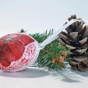 Mikulásvirágos meglepetés tojás, adventi meglepetés, mikulás ajándék, szülinapi- névnapi ajándék. , Mikulás, Karácsony & Mikulás, Decoupage, transzfer és szalvétatechnika, Mikulásvirágos meglepetés tojás, adventi meglepetés, mikulás ajándék, szülinapi- névnapi ajándék. \n\n..., Meska