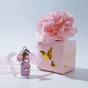 Üveg szelence vintage pink virágos nyaklánc rózsakvarc ásvánnyal szülinapra névnapra karácsonyra adventre mikulásra, Ékszer, Nyaklánc, Medálos nyaklánc, Üveg szelence vintage pink virágos tollas nyaklánc rózsakvarc ásvánnyal szülinapra, névnapra, karács..., Meska