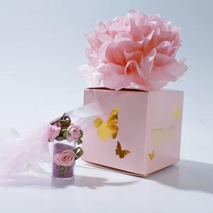 Üveg szelence vintage pink virágos nyaklánc rózsakvarc ásvánnyal szülinapra névnapra karácsonyra adventre mikulásra, Ékszer, Nyaklánc, Medálos nyaklánc, Üveg szelence vintage pink szatén virágos nyaklánc rózsakvarc ásvánnyal szülinapra, névnapra, karács..., Meska