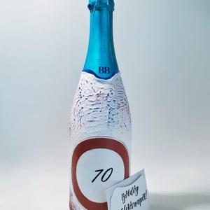 Felhajtani tilos BB cuvié pezsgő szülinaposoknak 18-100 éves korig., Otthon & Lakás, Dekoráció, Díszüveg, Decoupage, transzfer és szalvétatechnika, Felhajtani tilos BB cuvié pezsgő szülinaposoknak 18-100 éves korig. \n\nRendelhető hozzá pezsgős pohár..., Meska