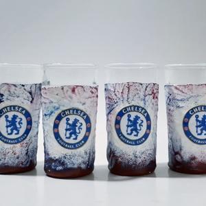 Chelsea foci rajongói dísz- és használati röviditalos pohárszett futball rajongói ajándék szülinapra, névnapra, Otthon & Lakás, Konyhafelszerelés, Pohár, Decoupage, transzfer és szalvétatechnika, Chelsea foci rajongói dísz- és használati röviditalos pohárszett futball rajongói ajándék szülinapra..., Meska