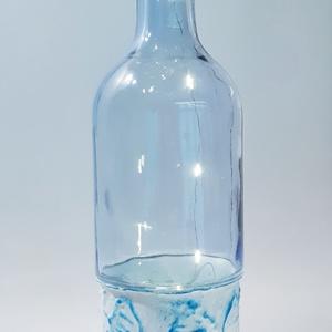 Halas festett, világító ledes üveg lakásdekoráció, dísz és használati üveg halat, horgászatot kedvelőknek., Otthon & Lakás, Dekoráció, Díszüveg, Halas festett, világító ledes üveg lakásdekoráció, dísz és használati üveg halat, horgászatot kedvel..., Meska