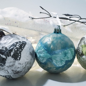 Pillangós karácsonyfagömb ajándék karácsonyra pillangó, lepke imádóknak 3 féle. , Karácsony & Mikulás, Karácsonyfadísz, Pillangós karácsonyfagömb ajándék karácsonyra pillangó, lepke imádóknak 3 féle. (A képen szereplő xm..., Meska