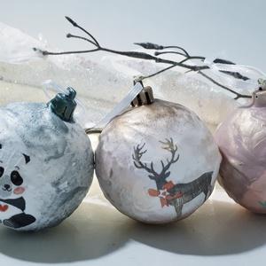 Panda, rénszarvas és láma karácsonyfagömb ajándék karácsonyra állat imádóknak 3 féle. , Karácsony & Mikulás, Karácsonyfadísz, Panda, rénszarvas és láma karácsonyfagömb ajándék karácsonyra állat imádóknak 3 féle. A karácsonyfag..., Meska