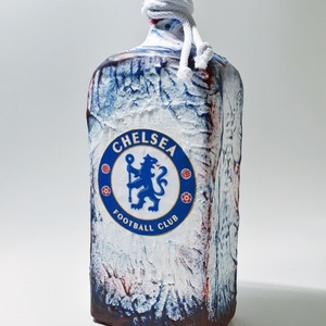 Chelsea foci rajongói lapos  italos dísz- és használati üveg futball rajongói ajándék, Otthon & Lakás, Dekoráció, Díszüveg, Chelsea foci rajongói lapos lapos dísz- és használati üveg futball rajongói ajándék. (750-1000 ml)  ..., Meska