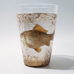 Aranyhal, halas dísz-és használati vizes pohár, üdítős pohár szülinapi ajándékötlet halászoknak, horgászoknak. , Otthon & Lakás, Konyhafelszerelés, Bögre & Csésze, Decoupage, transzfer és szalvétatechnika, Meska