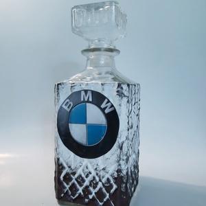 BMW whiskys üveg, BMW rajongói ajándék szülinapra, névnapra, karácsonyra. , Otthon & Lakás, Dekoráció, Díszüveg, Decoupage, transzfer és szalvétatechnika, BMW whiskys üveg, BMW rajongói ajándék szülinapra, névnapra, karácsonyra. (750 ml)\nBMW kedvelőknek k..., Meska