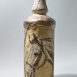 Lovas dísz-és használati italos üveg, pálinkás üveg, boros üveg ló kedvelőknek. lovasoknak, lovas gazdáknak., Otthon & Lakás, Dekoráció, Díszüveg, Lovas dísz-és használati italos üveg, pálinkás üveg, boros üveg ló kedvelőknek. lovasoknak, lovas ga..., Meska