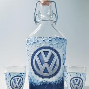 VOLKSWAGEN italos üveg, VOLKSWAGEN rajongói ajándék pálinkás pohárral szülinapra, névnapra, karácsonyra., Otthon & Lakás, Konyhafelszerelés, Pohár, VOLKSWAGEN italos üveg, VOLKSWAGEN rajongói ajándék pálinkás üveg pálinkás pohárral szülinapra, névn..., Meska