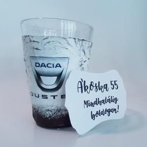 DACIA pohár, DACIA DUSTER gravírozható rajongói ajándék vizes pohár üdítős pohár szülinapra névnapra, karácsonyra, Otthon & Lakás, Konyhafelszerelés, Pohár, DACIA pohár, DACIA DUSTER gravírozható rajongói ajándék DACIA DUSTER vizes pohár, üdítős pohár szüli..., Meska